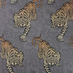 Bring the exotic to your home with this Tyger Tyger wallpaper from Osborne & Little. Featuring a stalking tiger design in rich jewel tones, it has been printed on holographic foil for an added touch - totally gorgeous!  Want some.