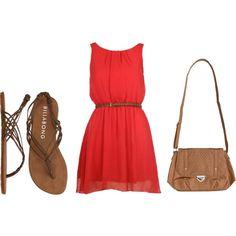 Somethin bout a girl, in a red sun dress... @Jennifer Milsaps L Milsaps Denniston