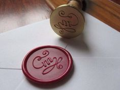 Red initial M Wax Letter Seal