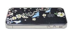 Clear Dolphin and Plumeria for iPhone4/4S