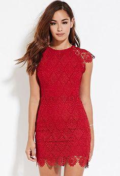 Crochet Lace Sheath Dress | Forever 21 - 2000147424