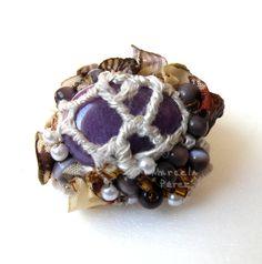 Anillo con piedra / http://marcelaperezjoyastextiles.blogspot.com.ar/