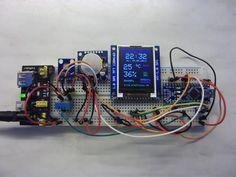 Klimaüberwachung mit Temperatur-(DHT11,BMP085), Luftfeuchtigkeits-(DHT11) und Luftdruckmessung (BMP085) mit einem Arduino, TFT-Display, und Echtzeituhr.