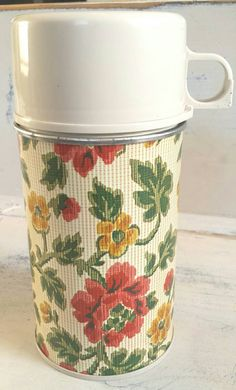 Check out this item in my Etsy shop https://www.etsy.com/listing/286121687/vintage-floral-half-pint-thermos-retro