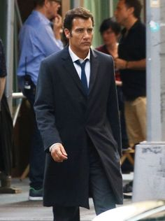 Actor Clive Owen is spotted on the set of the upcoming sci-fi drama 'Anon,'…