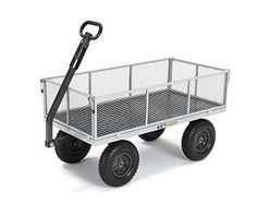 Outdoor Gardening Carts - Gorilla Carts HeavyDuty Steel Utility Cart with Removable Sides with a Capacity of 1000 lb Gray * More info could be found at the image url. (This is an Amazon affiliate link)