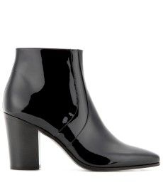 Saint Laurent - French patent leather ankle boots - mytheresa.com