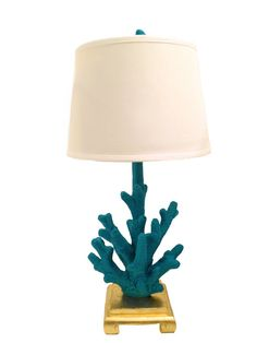 Bohemian Turquoise & Gold Table Lamp by livandwork on Etsy