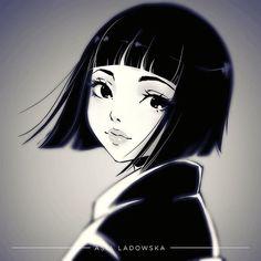 Goodbye  I redrew sketch from Thursday's MyStories.  #shorthair #sweet #girl #animegirl #anime #manga #mangagirl #illustration #characterdesign #oc #illustrationart #digitalart #digital #black #sketch #kawaii #漫画 #アニメ #スケッチ #桜 #かわいい #黒