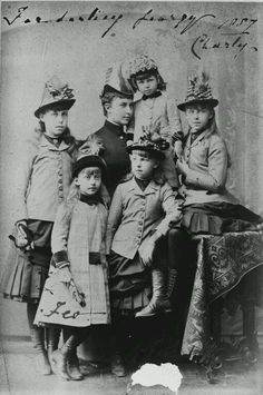 The Edinburgh princesses with Princess Feodora
