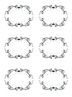 DIY Black and White Damask PRINTABLE Party Labels Tags Display ...