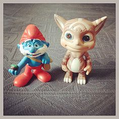 #Norn from #UK with #Belgian #Smurf #Schtroumpf (in #French)