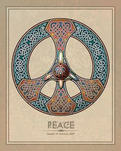 ✯ Knotwork Peace Sign .. By ~BWS✯