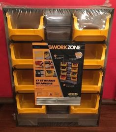 17 Drawer Plastic Organizer Storage Container Bin Parts Hardware Tools Craft NEW #WorkZoneWorkzone