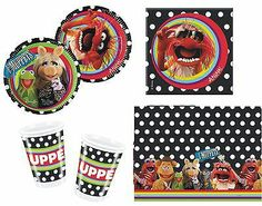 The Muppets Tableware Party Pack 61 Items Ideal for Birthday Party Free PP | eBay