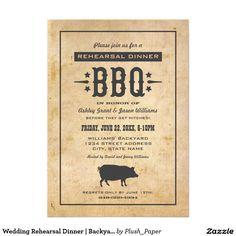 Wedding Rehearsal Dinner | Backyard BBQ Theme