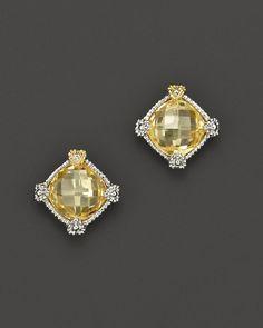 Judith Ripka Small Cushion Stone Stud Earrings - Earrings - Judith Ripka - Featured Designers - Fine Jewelry - Bloomingdale's
