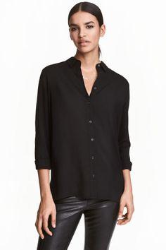 Overhemdblouse van viscose - Zwart - DAMES | H&M NL 1