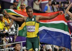 South Africa's Caster Semenya celebrates winning silver in the women's final. Caster Semenya, 800m, Nbc Olympics, Track And Field, Olympians, South Africa, In This Moment, Celebrities, Sports