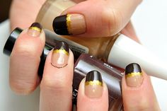 Pinch of gold Latest Nail Designs, Gold Nail Designs, Prom 2015, Gold Nails, Saga, Beauty, Gold Nail
