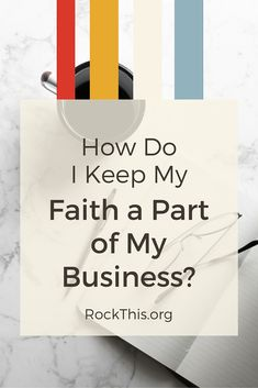 """There's a recurring question I see Christian entrepreneurs asking online -- """"How do I keep my faith a part of my business?""""  It's a good, important question, but I believe that sometimes we are overthinking it."""
