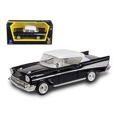 1957 Chevrolet Bel Air Black 1/43 Diecast Model Car by Road Signature