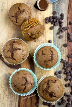 Espresso Chocolate Chip Muffins from www.tablefortwoblog.com