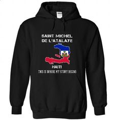 SAINT MICHEL DE IATALAYE - Its where my story begins! - #plaid shirt #pink sweater. GET YOURS => https://www.sunfrog.com/No-Category/SAINT-MICHEL-DE-I-Black-Hoodie.html?68278
