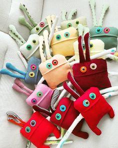 soft monster by Podobis, handmade stuffed toys