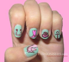 We all want beautiful but trendy nails, right? Here's a look at some beautiful nude nail art. Horse Nail Art, Horse Nails, Cute Nail Art, Nail Art Diy, Cute Nails, Colorful Nail Designs, Cute Nail Designs, Western Nail Art, Country Girl Nails