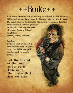 """Book of Shadows:  """"Burke,"""" by Charmed-BOS, at deviantART.I loved watching charmed. Please check out my website Thanks.  www.photopix.co.nz"""