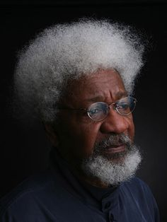 "'Wole Soyinka, Nigerian novelist, playwright, poet, and teacher. His powerful writings enabled him to become the first African writer to win the ""Nobel Prize"" for literature in 1986.'"