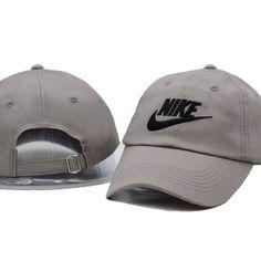 Gray NIKE Embroidered Baseball Cap Hat