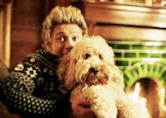 """And cuddled with the most fuzzy puppy that exists: 