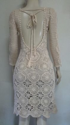 Crochet Summer Dresses, Summer Dress Patterns, Crochet Lace Dress, Hippie Crochet, Crochet Wedding, Lace Cardigan, Hippie Outfits, Crochet Fashion, Traditional Dresses