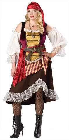 Deckhand Darlin Adult Plus #Pirate #Costume