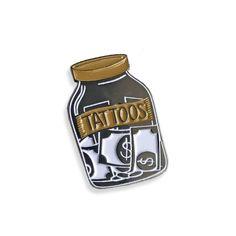 Tattoo Money Jar Pin