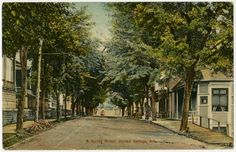North Spring St. in Eureka Springs, unknown year. G1242.2