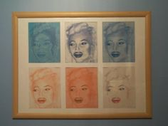 Six Marilyns warhol style copied from one image I created when I swas 17. #marilyn #warholstyle