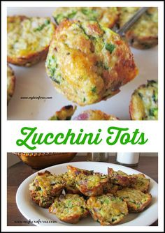 Zucchini tots are a mini bite of grated zucchini and cheese that replaces tator tots at our house!  http://www.myturnforus.com/2015/07/zucchini-tots.html
