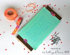 "String Art ""HOME"" how to do it - DIY. Wood, String & Nails"