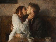 "Ron Hicks, ""Kisses and Coffee"", 2014"