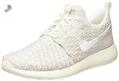1768f258f317 Nike Women s Roshe One Flyknit Sail White String Running Shoe 6 Women US