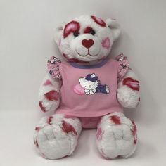 Build-a-Bear Plush Hearts Fur You Bear 14 Inches Stuffed Animal w/Kitty Pajamas #BuildABearWorkshop #AllOccasion
