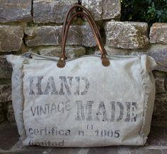 Große Vintage Tasche Badetasche Handtasche Schultertasche