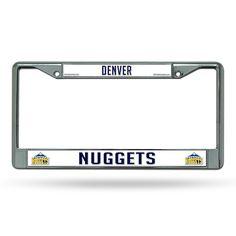 New! Denver Nuggets Chrome License Plate Frame #DenverNuggets