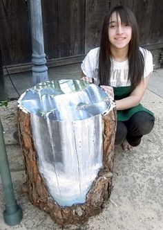 painted tree trunk - Google Search