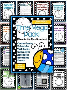 Springtime Time Mega Pack - Printables, Center Games, Task Cards, Recording Sheets and Foldables For 1.MD.B.3 and 2.MD.C.7 #TPT $Paid