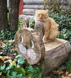 садовые фигурки из дерева