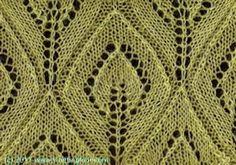 Framed Leaves - Knittingfool Stitch Detail